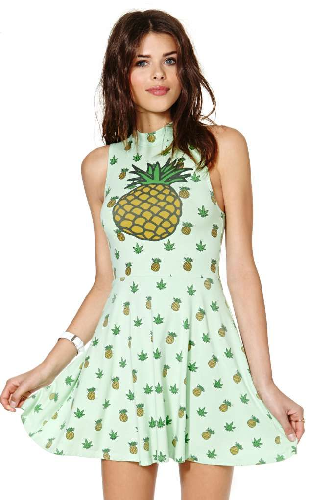 United Couture Pineapple Weed Sugar Dolls Dress   Shop Dresses at Nasty Gal