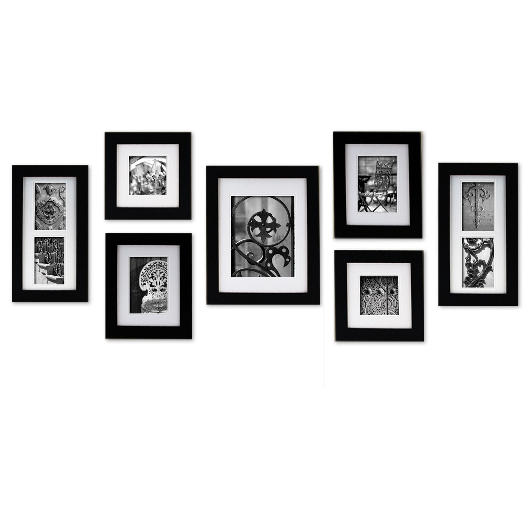Gallery Perfect Create a Gallery Black Wood Frame 7-piece Kit (Black ...