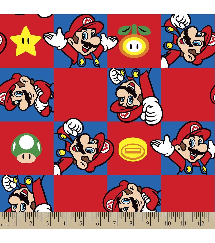 Nintendo Mario Print Fabric Super Mario Brothers Super Mario