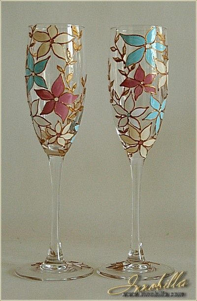 Creative Ideas Of Wine Glass Painting 3 Decoritem Com Painting Glassware Painted Wine Glass Glass Painting