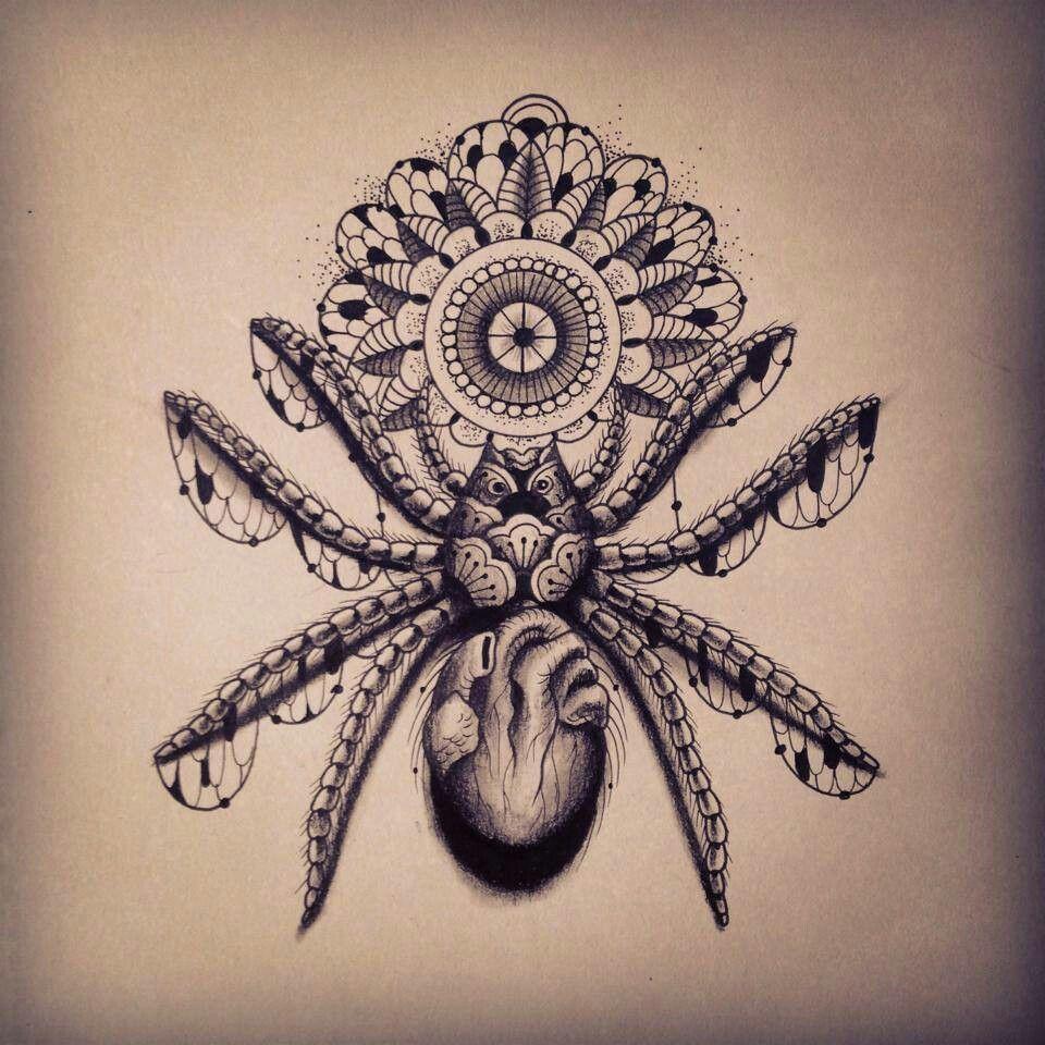 #spider tattoo #mandala | забей | Pinterest | Spider ...