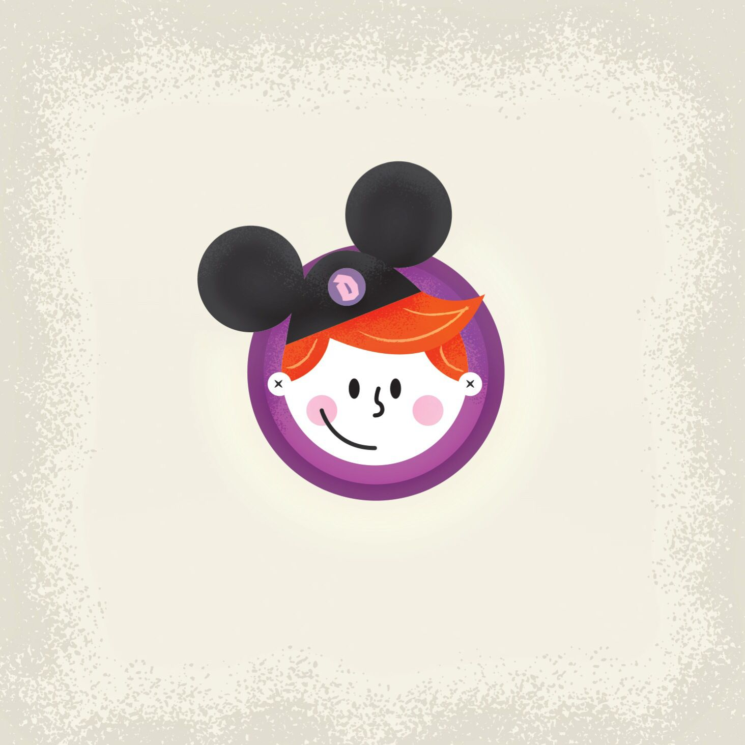Small illustration for a social graphic on toddlers at the theme parks.