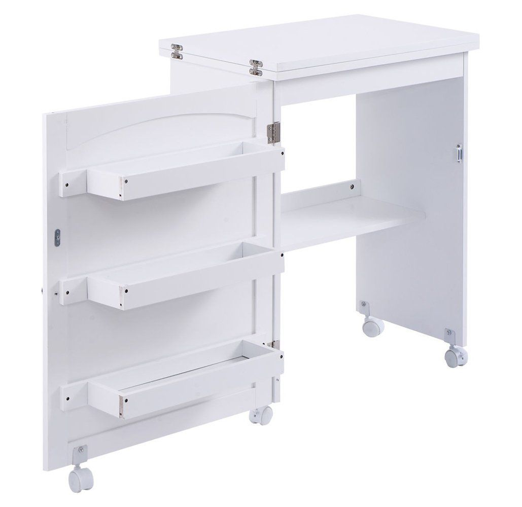 Your Costway White Folding Swing Craft Table Storage Cabinet Will Be A Great Addition To Your Home O Home Storage Cabinets Storage Cabinet Shelves Craft Table