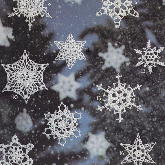 Snowflakes Crochet Patterns - 16 Designs - Christmas Ornaments ...