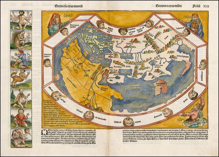 1493 secunda etas mundi world map before discovery of america by 1493 secunda etas mundi world map before discovery of america by hartmann schedel gumiabroncs Image collections