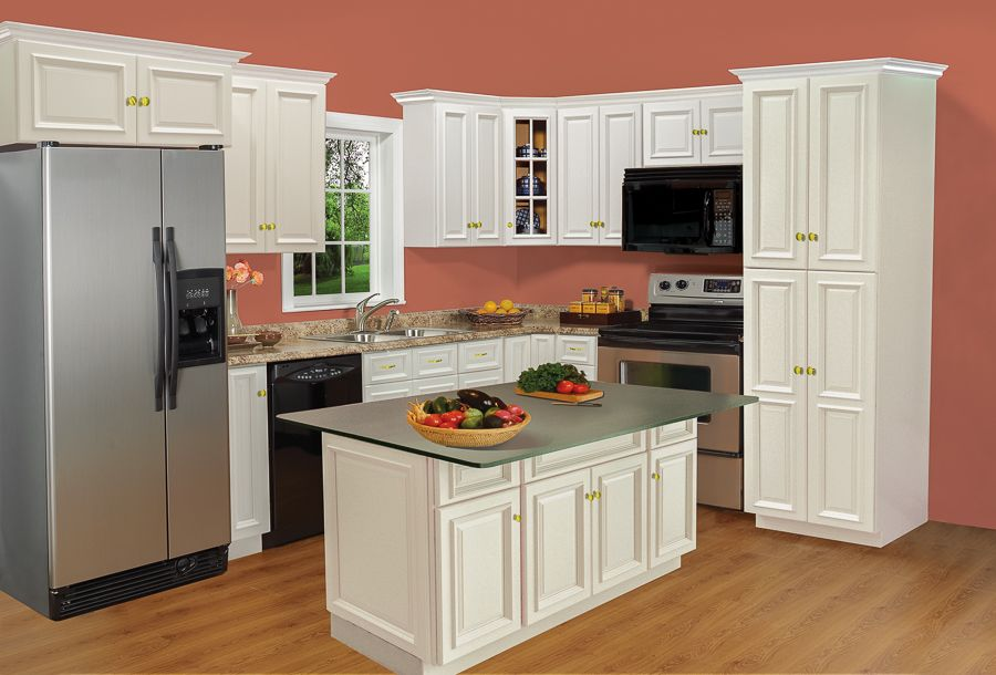 kitchen cabinets painted linen white bm shaker bargain outlet ideas house