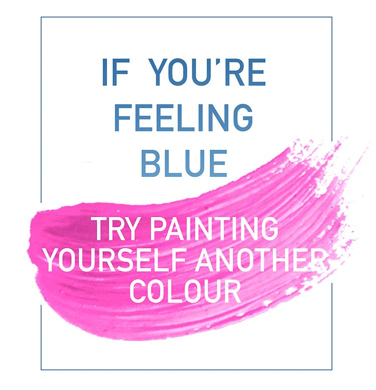 Hot Pink in Yaletown | Color quotes, Feeling blue, Lettering