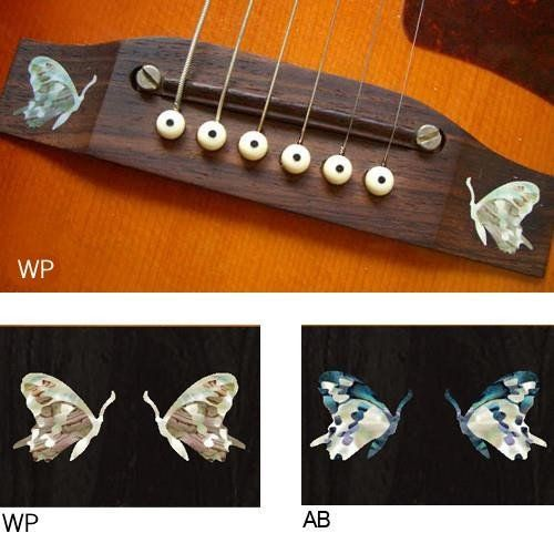 Guitar Bridge Inlay Stickers Decals Butterfly 2pcs/set