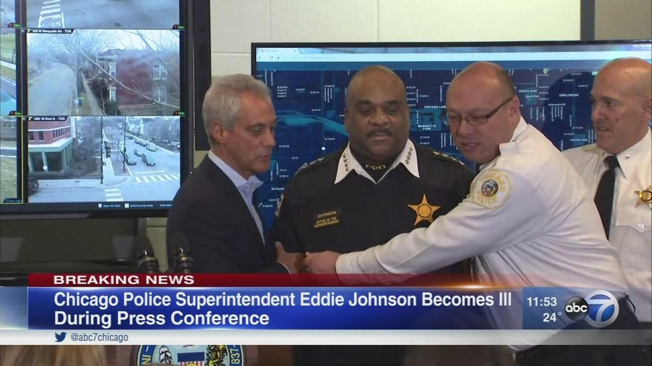 CPD supt. falls ill at press conference for new technology