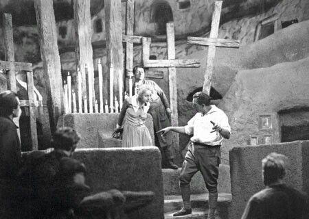 Fritz Lang directing a masterpiece, 'Metropolis'
