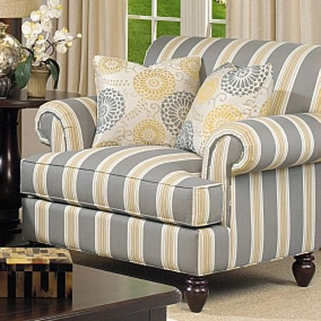 Captivating Yellow And Gray Arm Chair