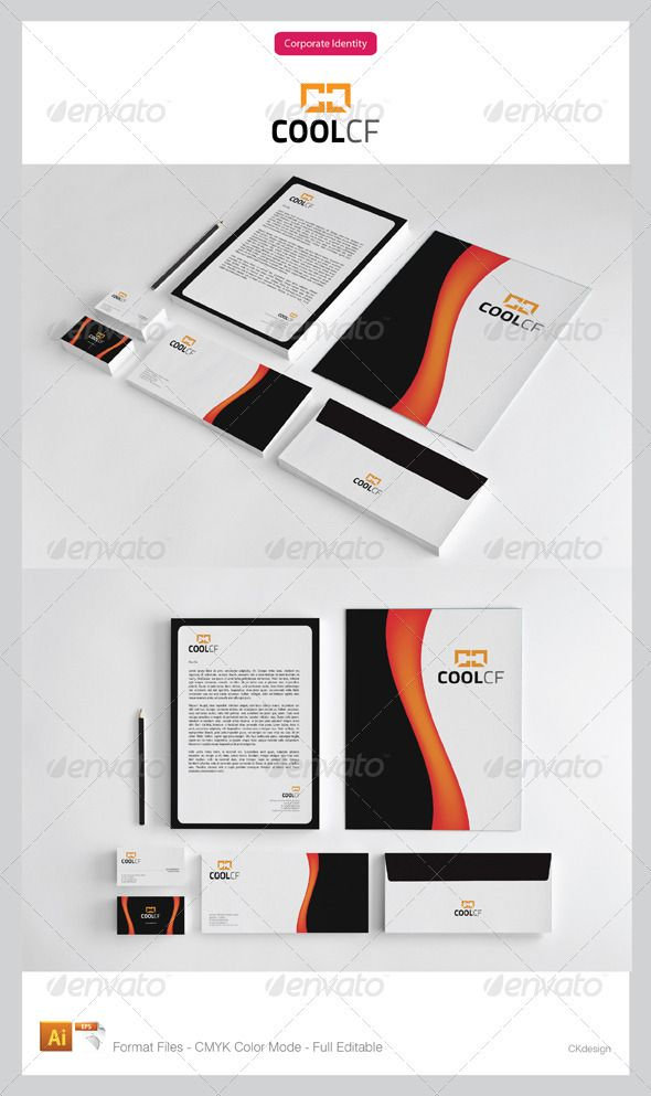 coolcf corporate identity package corporate identity