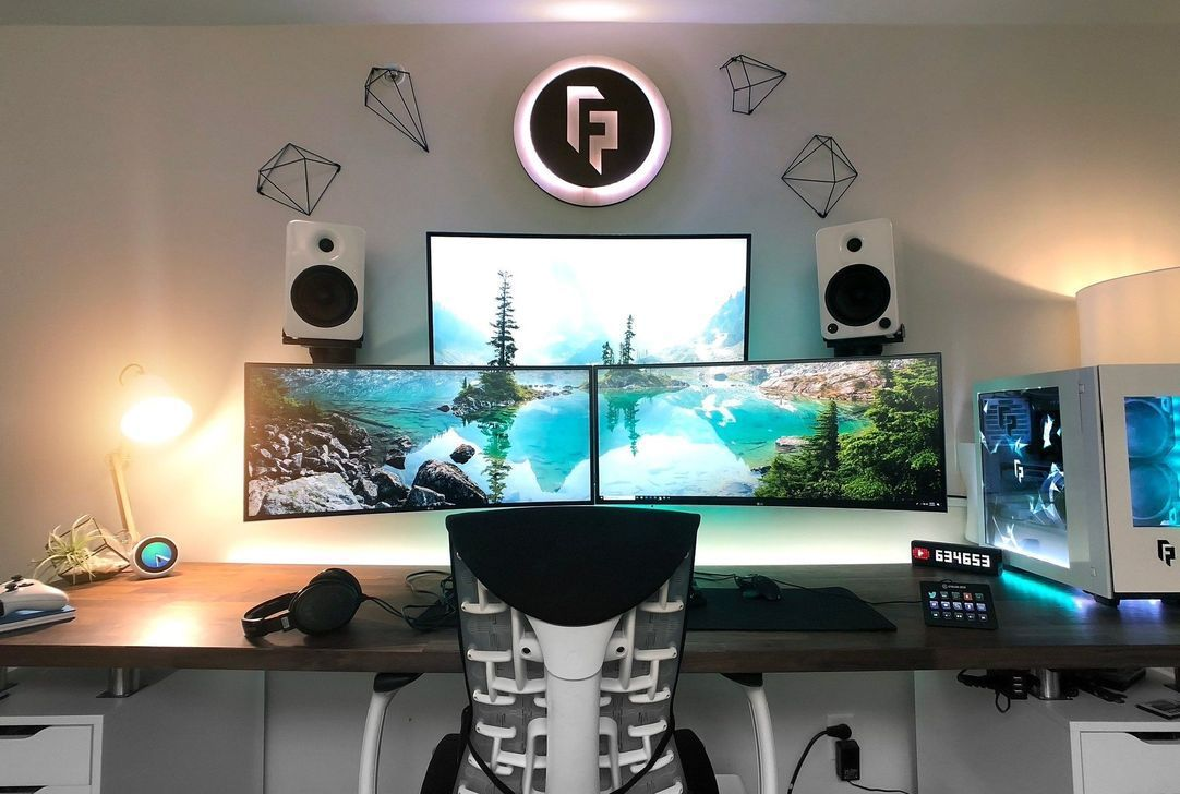 38 The Best Gaming Desk Computer Setup Ideas | Video game ...