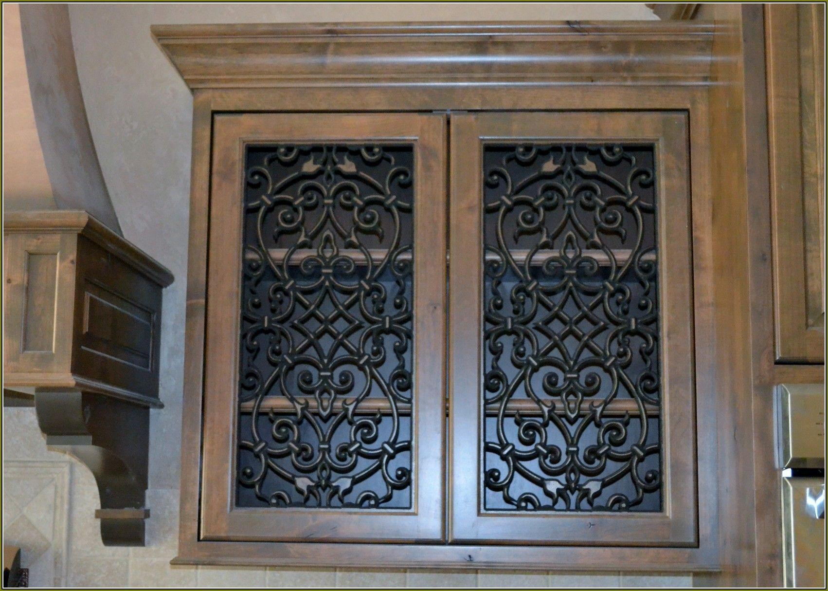 Image result for iron grill insert for cabinet door | Middleburg ...
