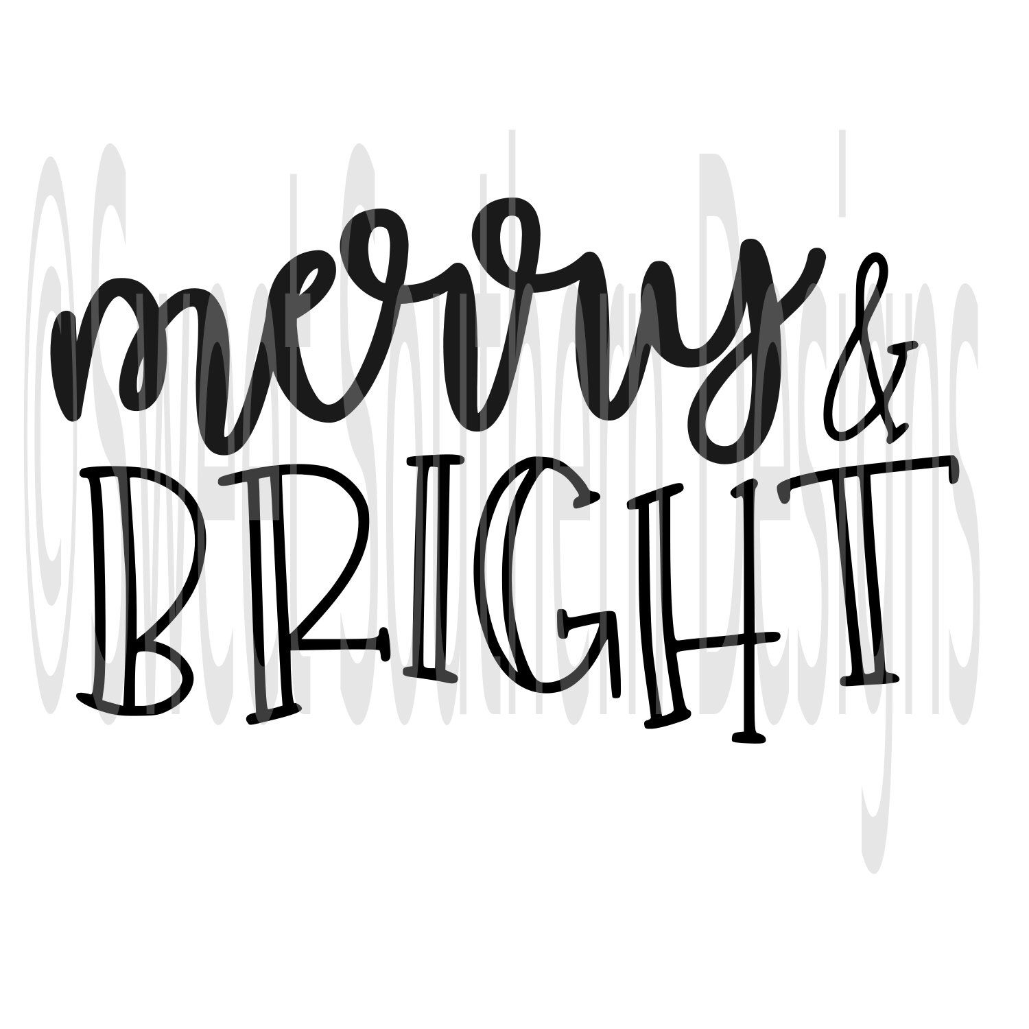 Merry and bright Christmas SVG DXF PDF instant download