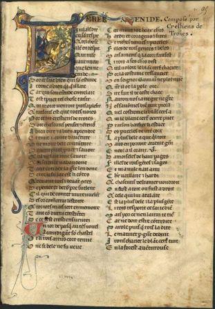 Erec Et Enide Manuscrit Bnf Chevaliers De La Table Ronde Pinterest Bnf Manuscrit Et La