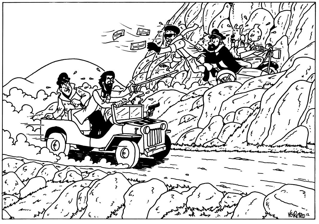 The Adventures of Tintin Coloring Pages | 749x1067