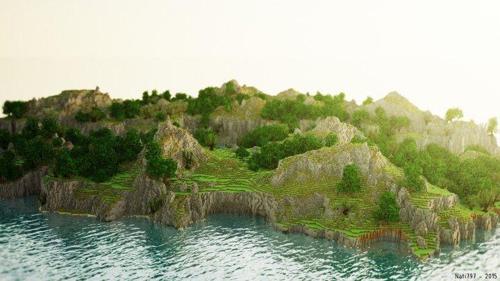 world painter minecraft | Cliff Side - World Painter Minecraft Project