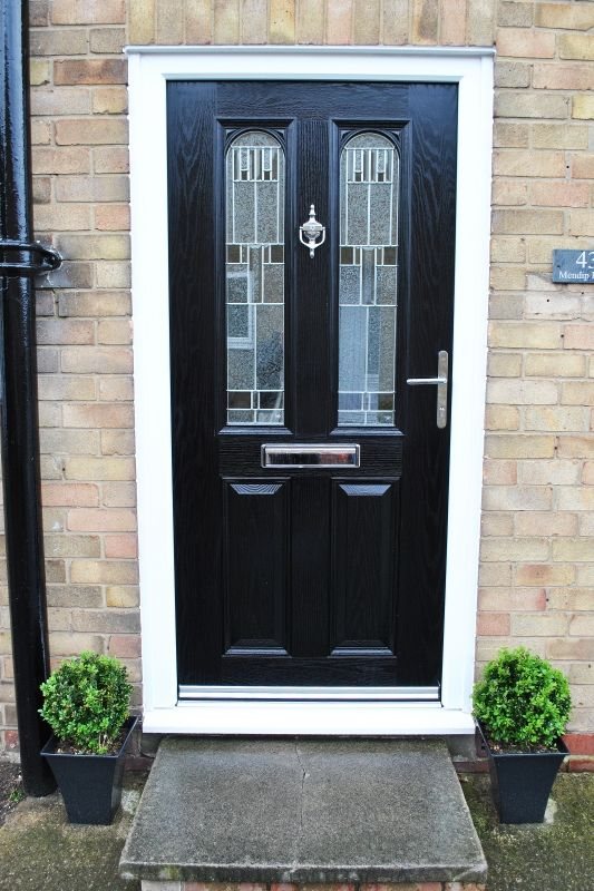 Modern and Stunning, Black Parama Composite Door with Zinc Prairie ...