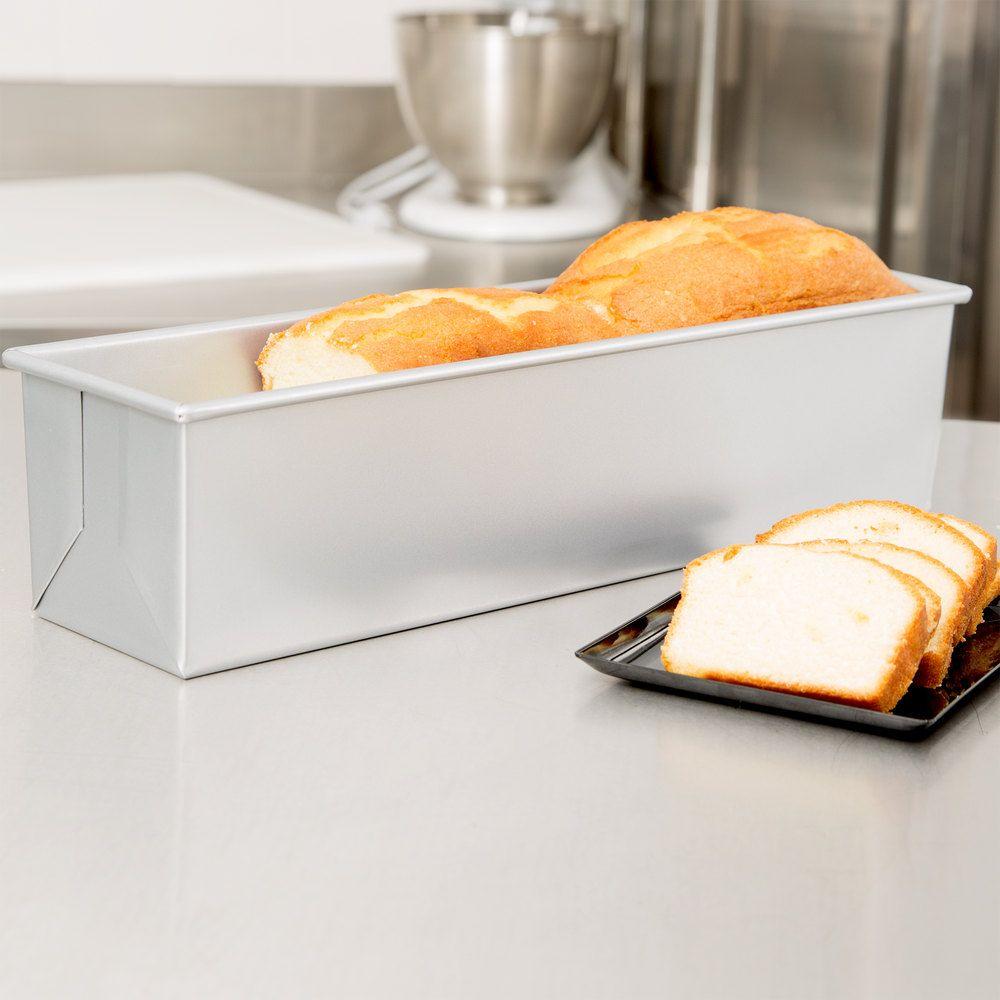 2 Lb Glazed Aluminized Steel Pullman Bread Loaf Pan 16 X 4 X