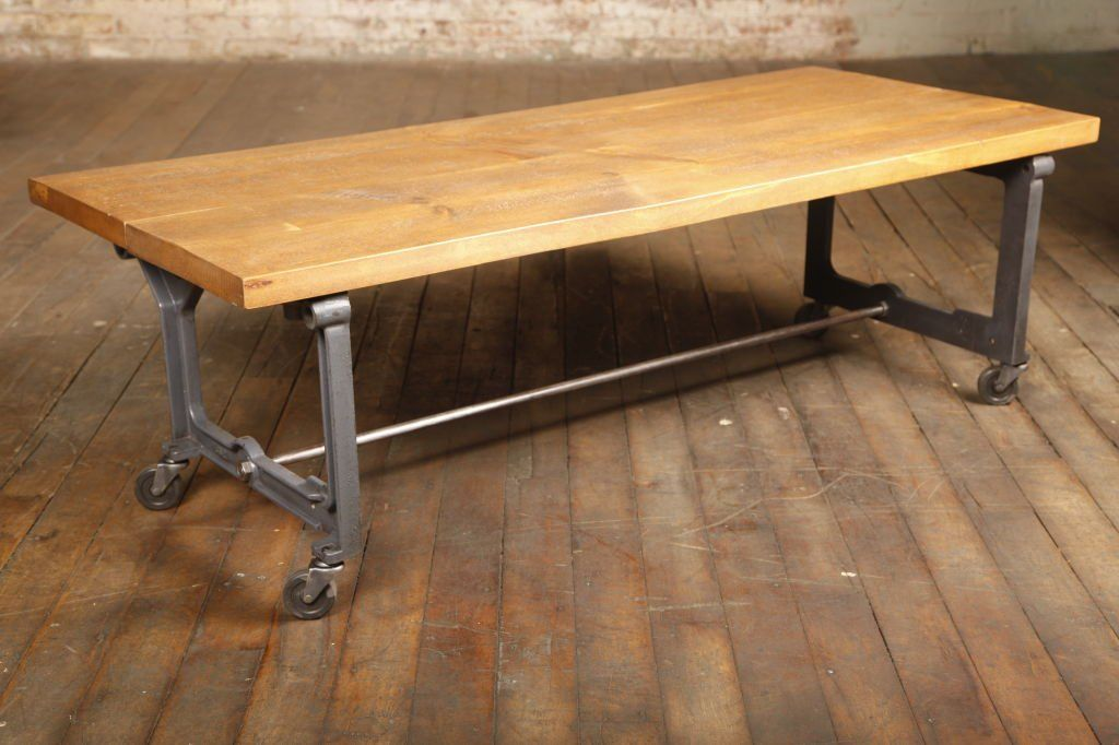 Image Result For Rolling Rustic Wood Table