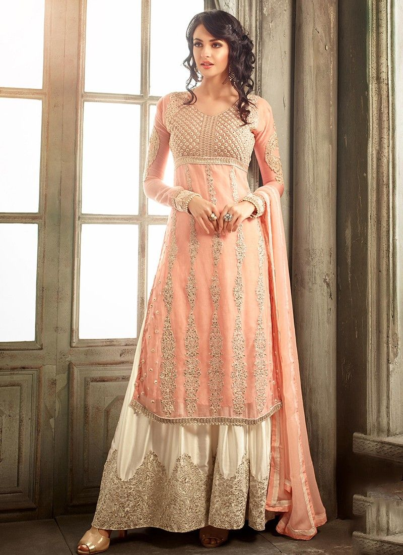 1ee12f12741 Peach Embroidered Designer Salwar Kameez. Peach Embroidered Designer Salwar  Kameez Pakistani Dresses ...