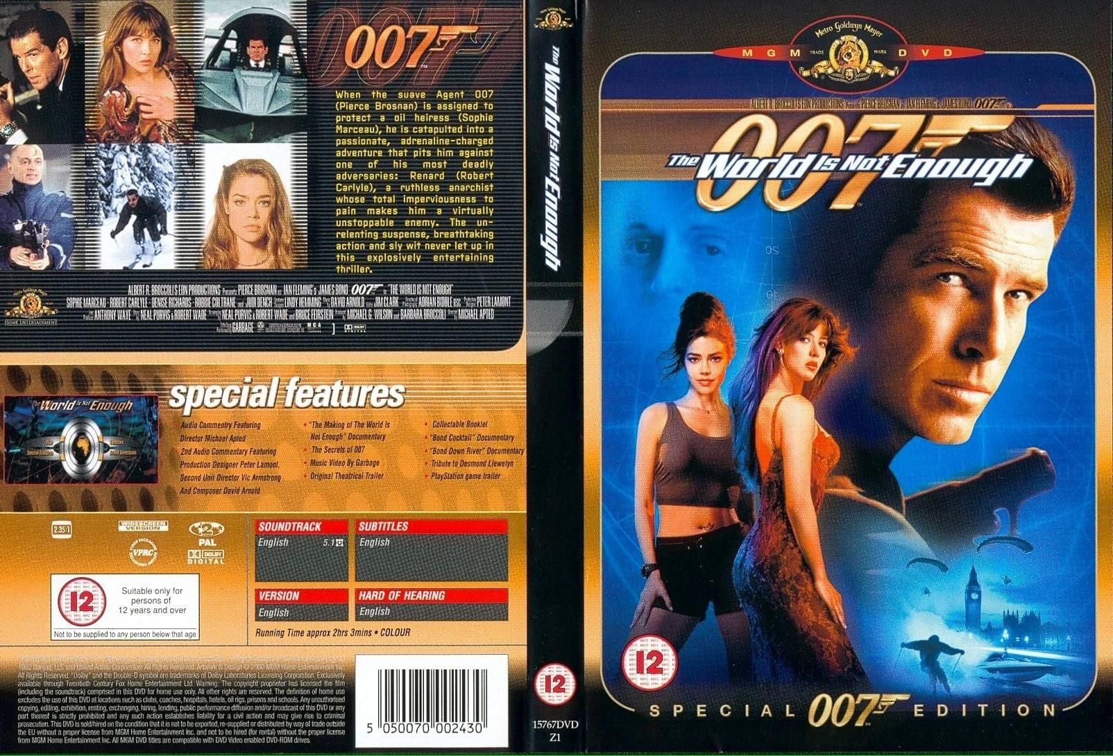 World Is Not Enough With Images James Bond Dvd Covers Movie