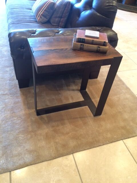 Handcrafted Reclaimed Wood T Side Table By Peter Thomas Designs In Phoenix Az Custom