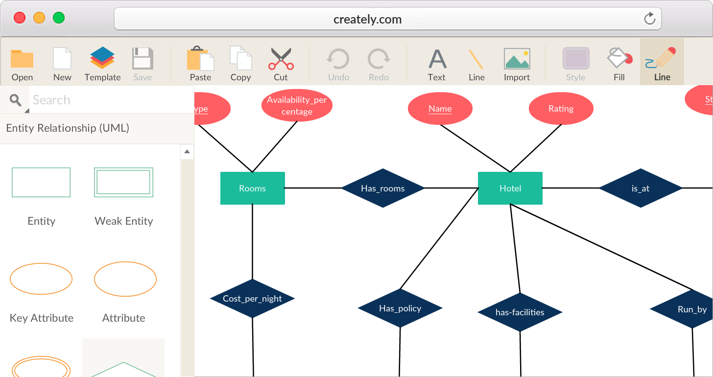 Er Diagram Software With Real Time Collaboration Creately Relationship Diagram Diagram Online Diagram Design