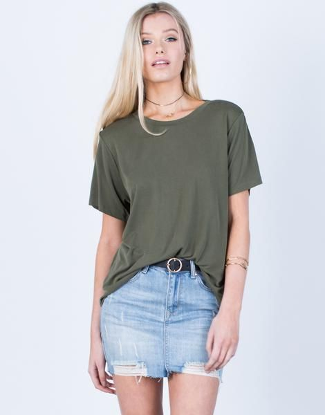 6f38690d7 Super Soft Basic Tee - Flowy Lightweight Tee - Short Sleeve Tee – 2020AVE