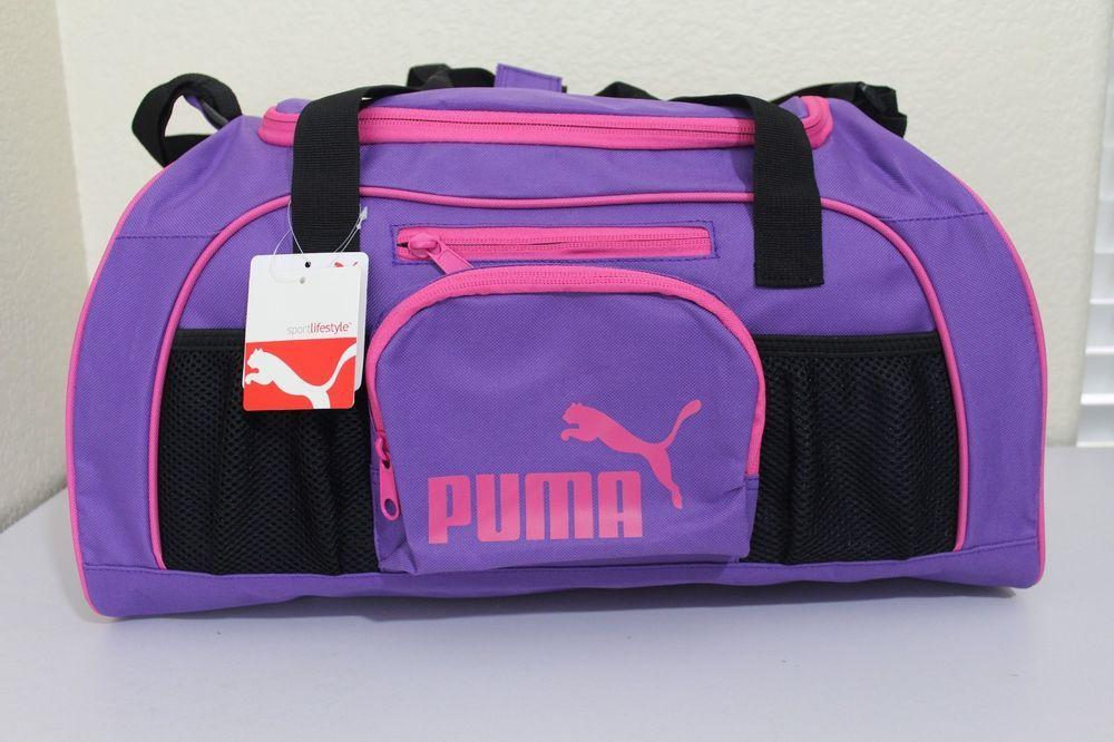 Puma sport lifestyle women girl small duffel gym bag luggage 20