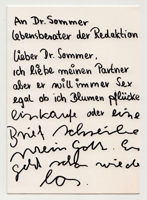 Der Hilfeschrei des Monats – Lieber Dr. Sommer on http://www.drlima.net