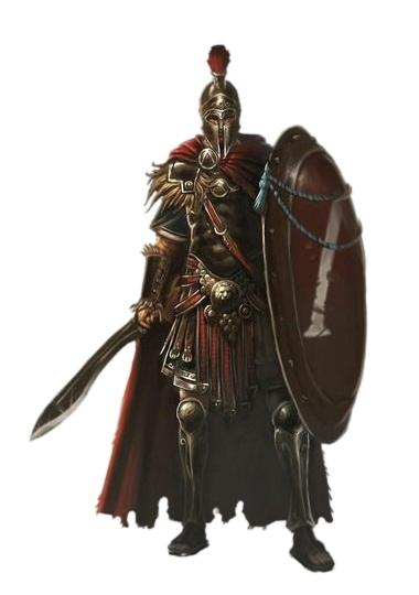 Male Human Falcata Shield Roman Fighter - Pathfinder PFRPG ...