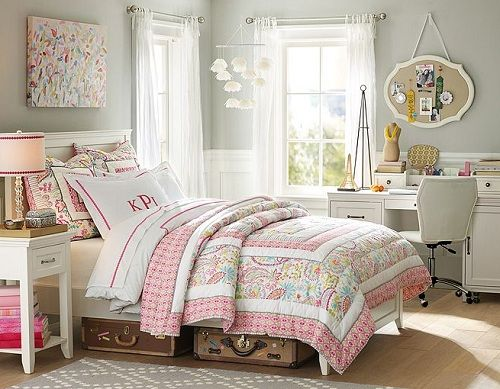 Romantic Teenage Girl Bedroom Ideas Using Hampton Swirly