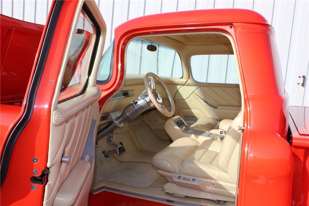 1955 Chevy Truck Interior Barrett Jackson Lot 667 2 1955 Chevrolet 3100 Custom Pickup Chevy Trucks 1955 Chevrolet 57 Chevy Trucks