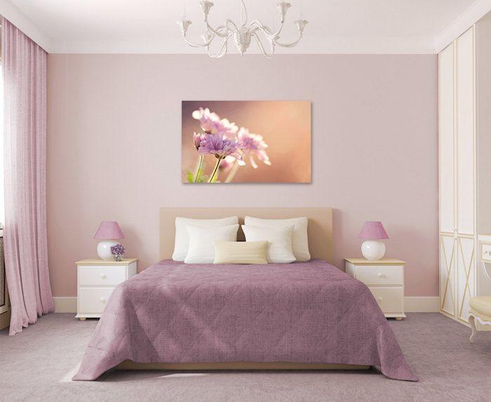 Idée decoration chambre adulte rose deco mauve pale clair idée pour aménagement chambre