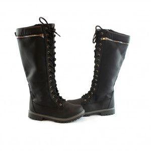 da1259673568 ... Women Fashion by SophiasStyle. Bella Marie Girls Black Lace-Up Zipper  Detail High Boots 9 Toddler-4 Kids