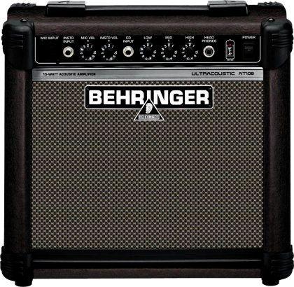 Behringer At108 Ultracoustic Acoustic Guitar Amp 15w Acoustic Guitar Amp Guitar Amp Acoustic Guitar