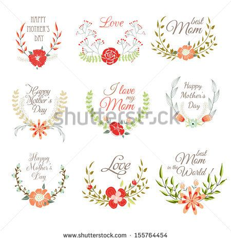 Happy mothers day card design vector illustration by Lyubov - mothers day card template