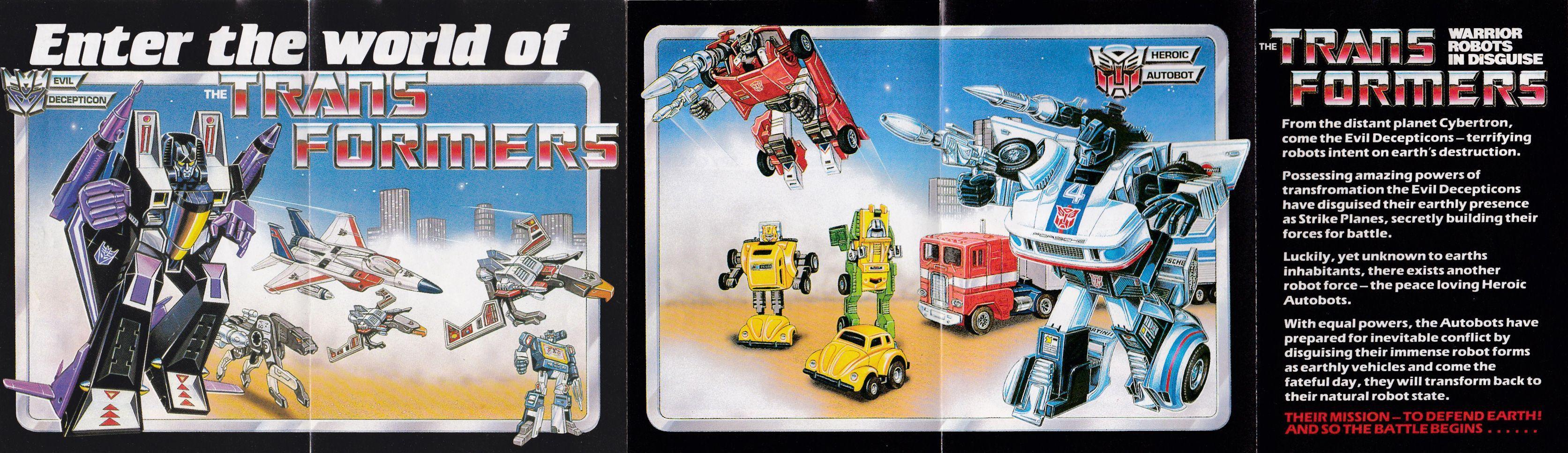 Transformers G1 1984 Catalog Uk Original Transformers Transformers Retro Toys
