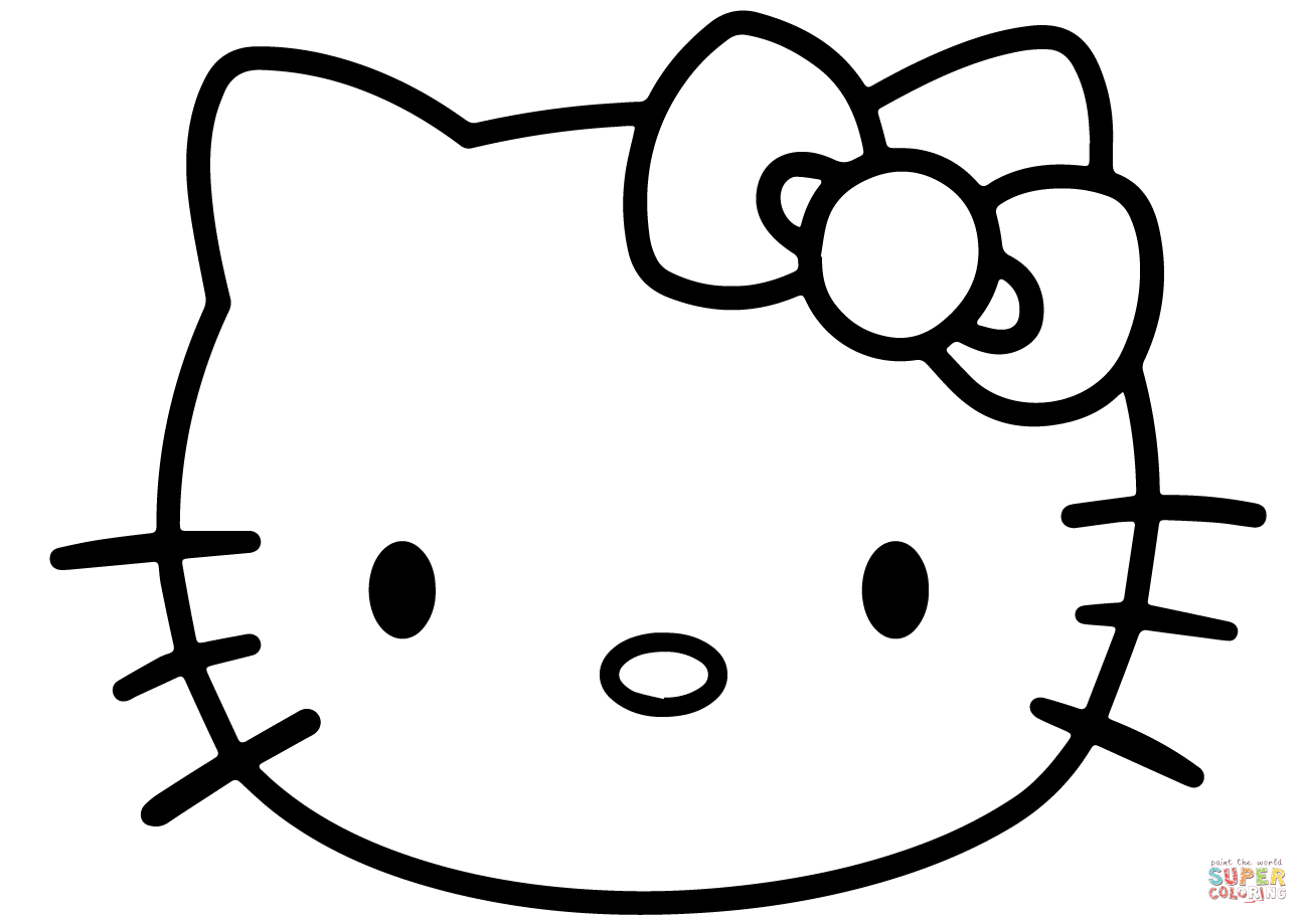 Hello Kitty Face coloring page  Free Printable Coloring Pages