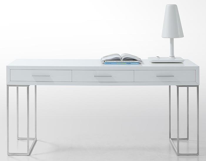 Fabulous Finds Modern White Desks In Every Price Range White Lacquer Desk Modern White Desk Lacquer Desk