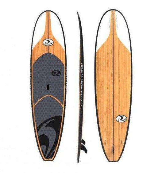 California Board Company 11 Bamboo Veneer Epoxy Fiberglass Stand Up Paddleboard Package Paddle Boarding Standup Paddle Paddle