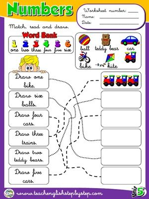 Numbers Worksheet 2 Every Day Pinterest Worksheets English