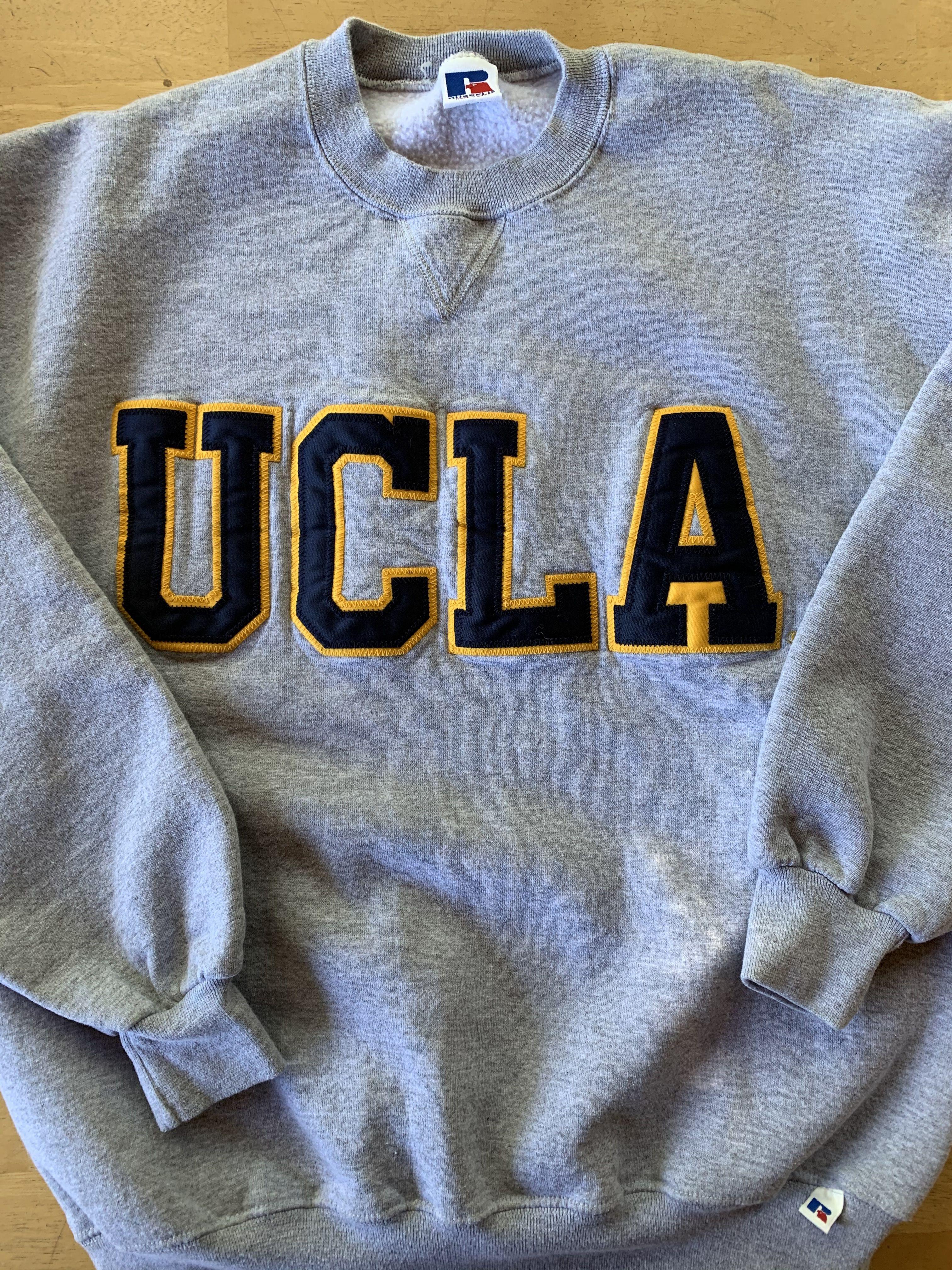 Vintage Ucla Russell Athletic Sweatshirt Sweatshirts Grey Hoodie Men Patch Sweatshirts [ 4032 x 3024 Pixel ]