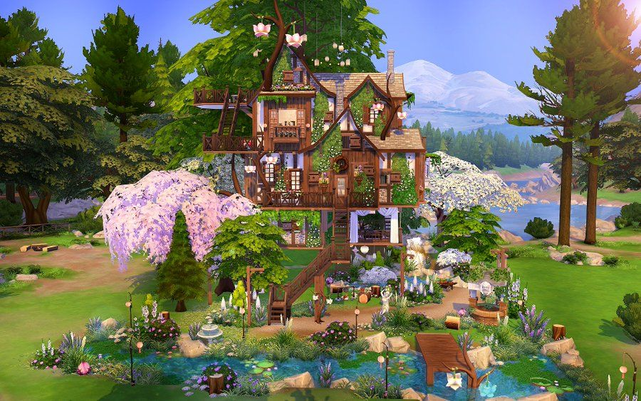 Sarah Sims 4 Creations On Twitter Sims Building The Sims 4 Lots Sims 4