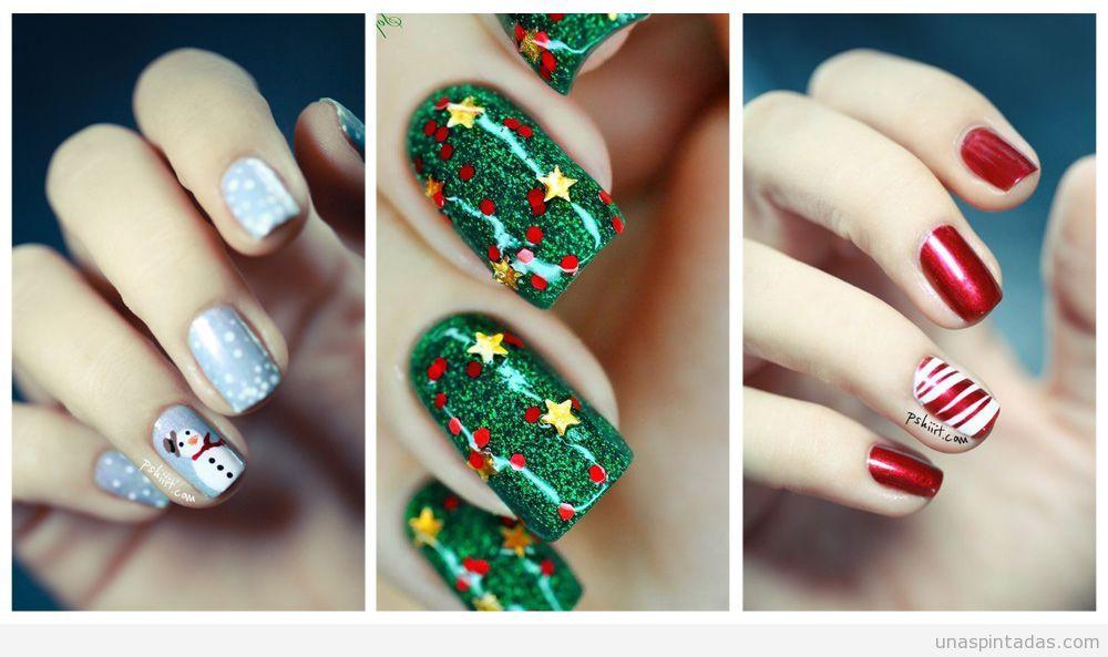 Imágenes decoraciones de uñas navideñas 3