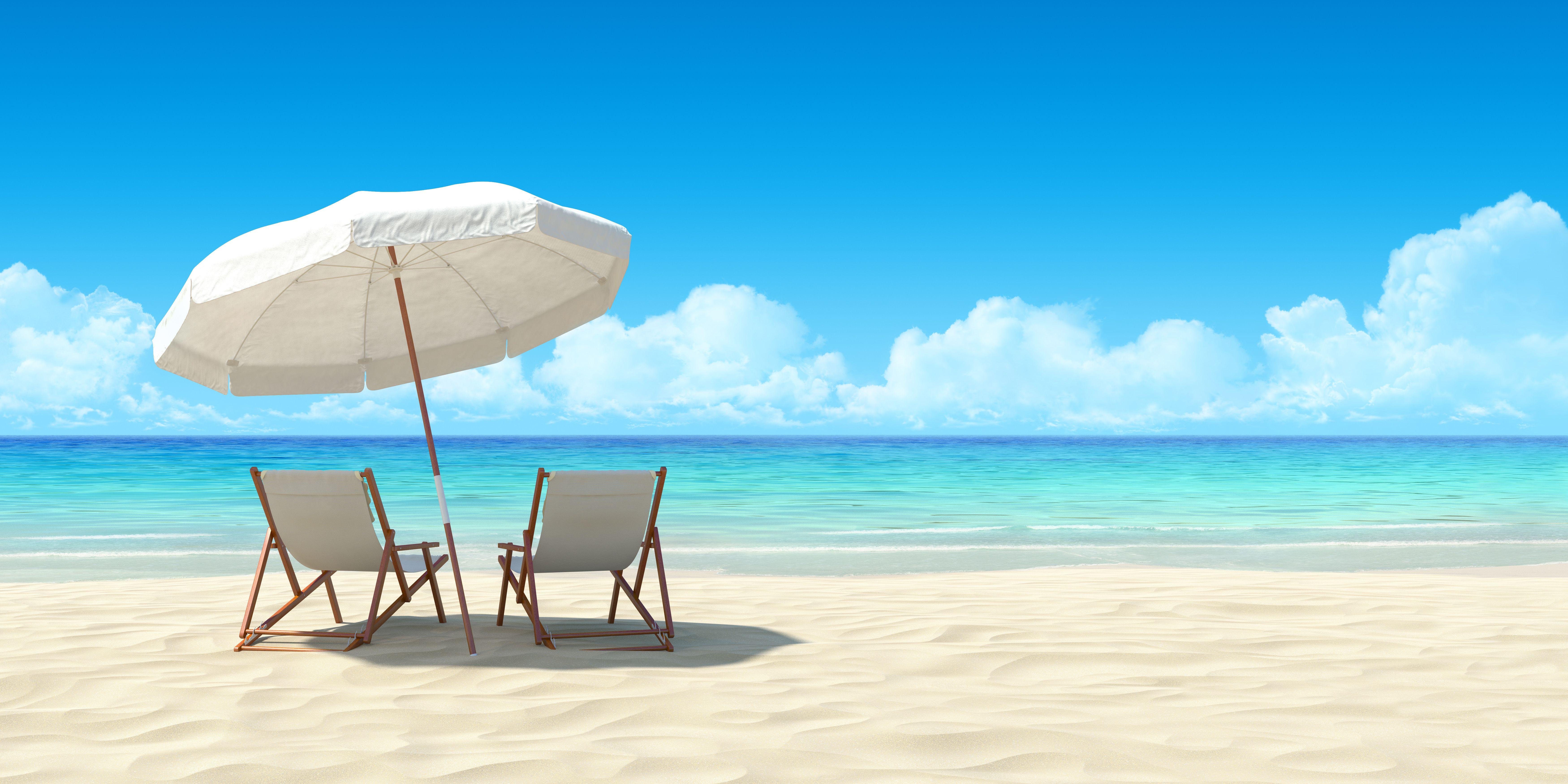 30a34cc3e Chaise lounge and umbrella on sand beach. - Kerr Lake Cornhole and ...