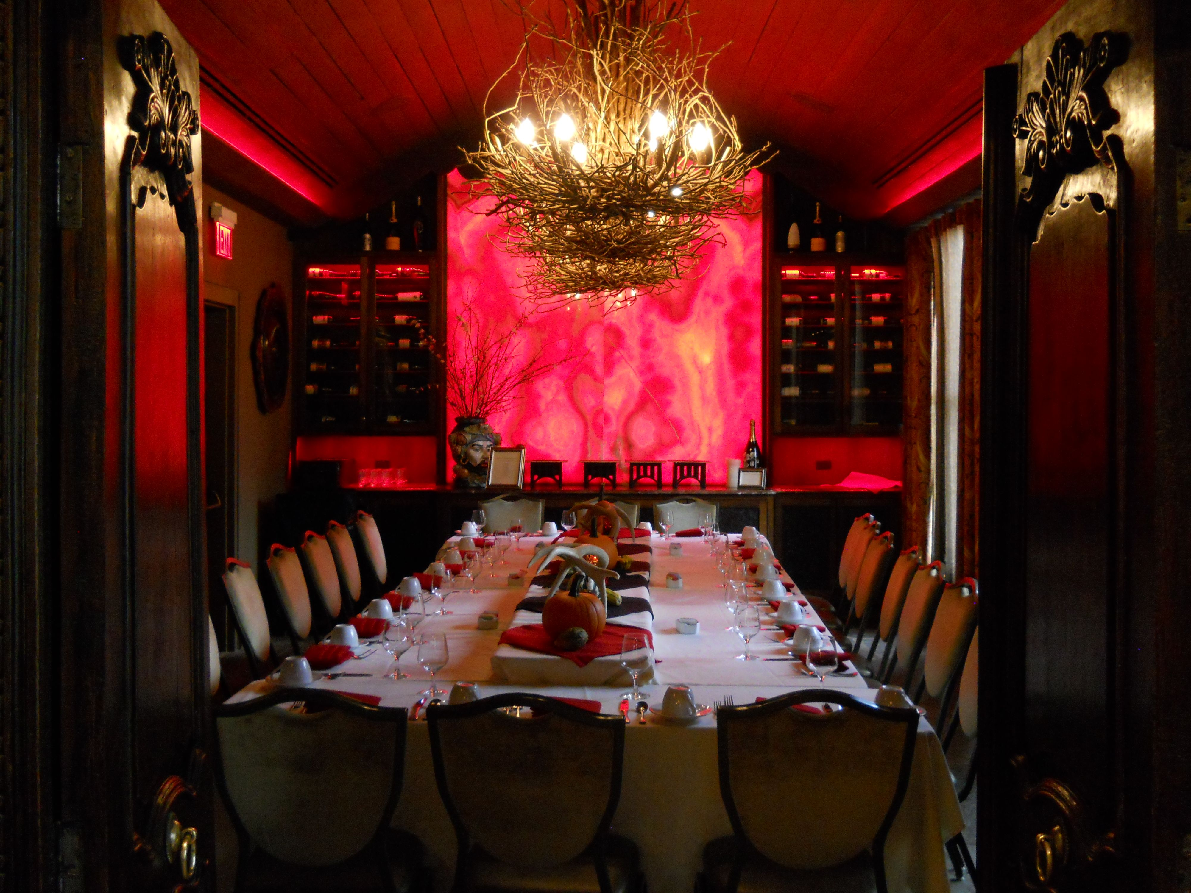 Black Forest Wine Room Feasting Table Dinner Party Grand