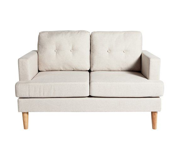 Buy Home Joshua 2 Seater Fabric Sofa Natural At Argos Co Uk Visit Argos Co Uk To Shop Online For Sofas Living Ro Fabric Sofa Charcoal Sofa Light Gray Sofas